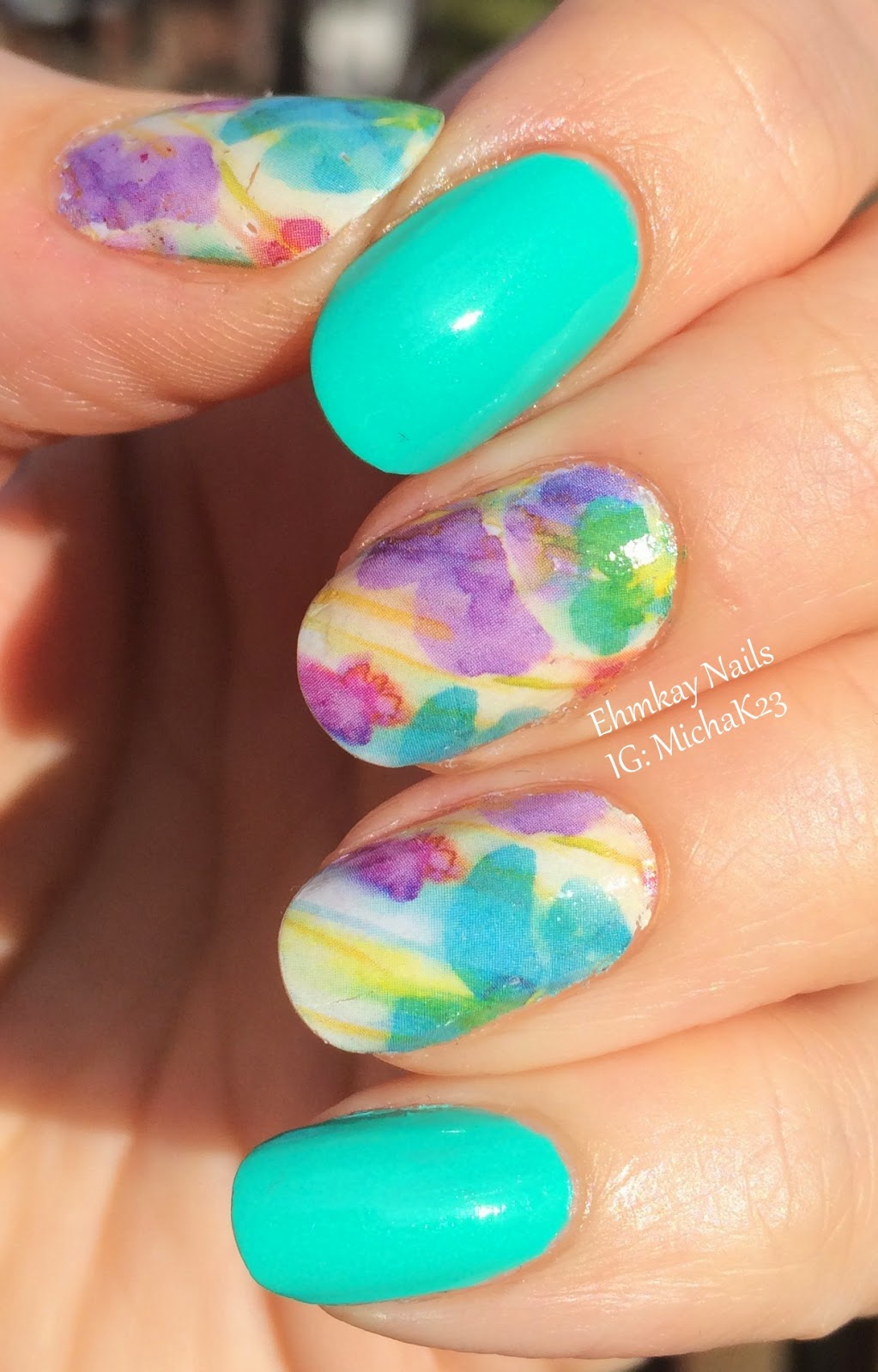 Ehmkay Nails: Born Pretty Full Nail Water Decals: Instant