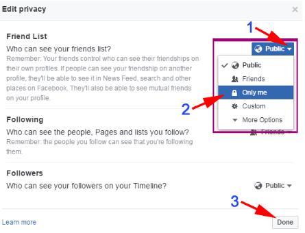 Hide Friends On Facebook App<br/>