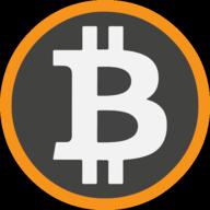 bitcoin icon outline