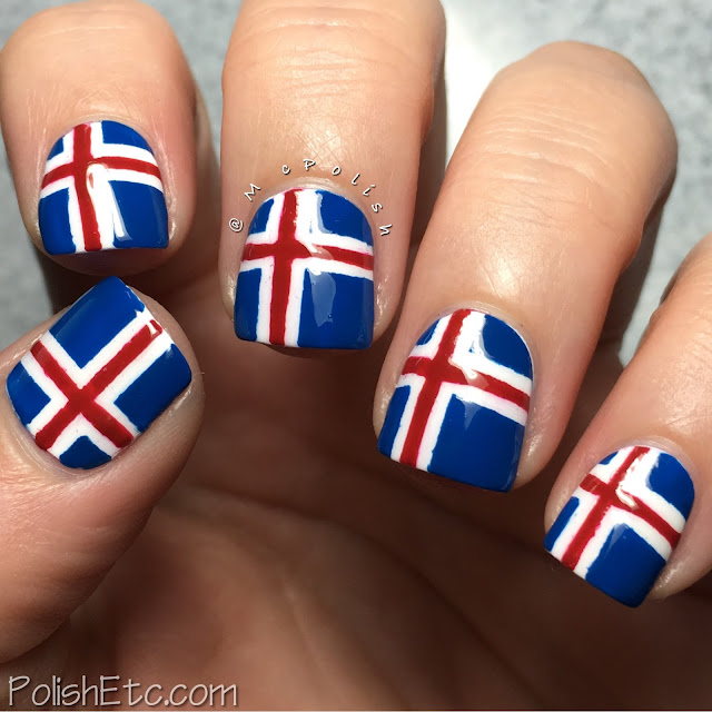 Icelandic Flag Nails for the #31DC2016Weekly by McPolish
