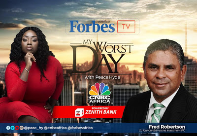 """South African Billionaire Fred Robertson on Forbes Africa TV """"My Worst Day with Peace Hyde""""."""