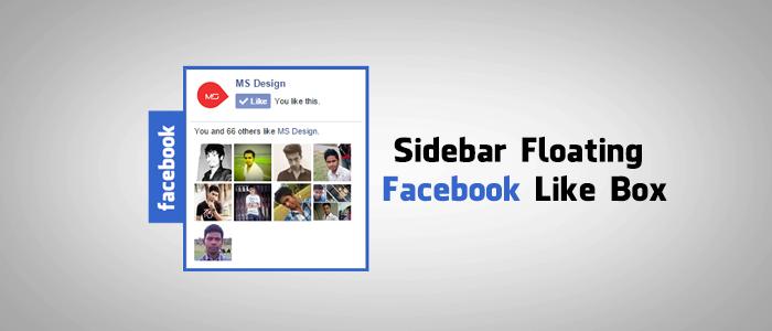 Sidebar Floating Facebook Like Box For Blogger