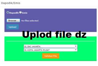 gambar cara upload file dz ke bio un smp 2018