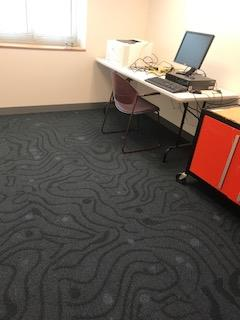 New Carpet in Library Work room