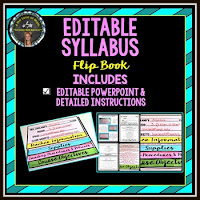 Editable Syllabus Flip Book from 4 the Love of Math