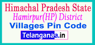 Hamirpur(HP) District Pin Codes in Himachal Pradesh State