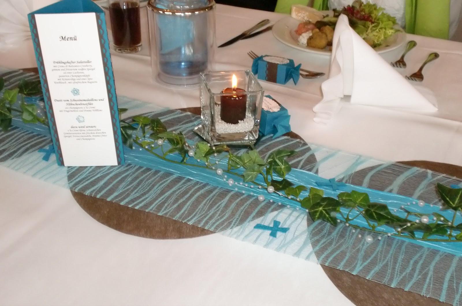 Tischdeko Kommunion Ideen Taufe Junge Dekoration Deko Taufe