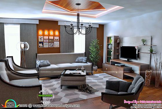 Living room luxury interior
