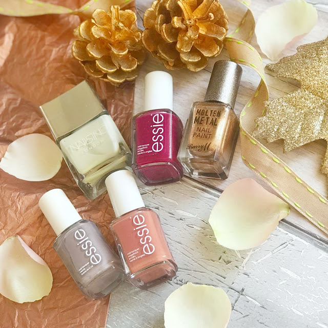 Autumn-nail-shades-2018-essie-nails-inc-barry-m-flatlay