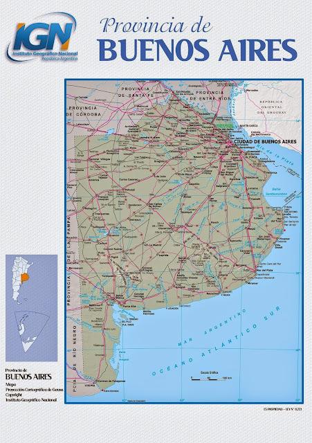 Mapa da província de Buenos Aires - Argentina