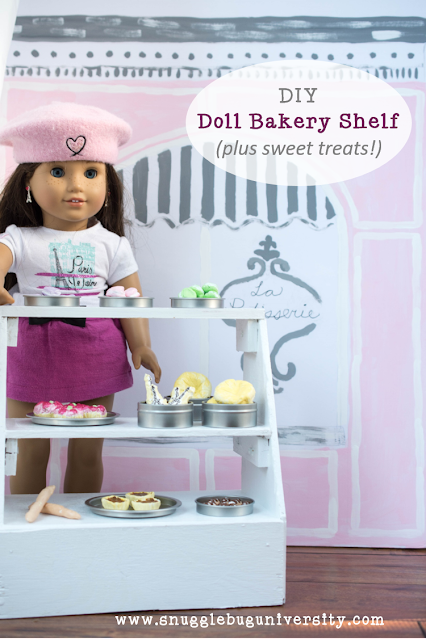 DIY Doll Bakery Display Shelf and fake food!