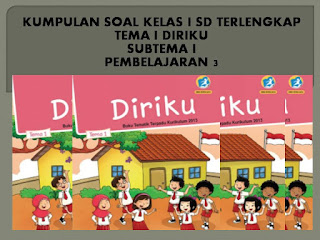 SD Kurikulum 2013 Revisi Tema Diriku, SubTema 1 Aku dan Teman Baru, Pembelajaran 3