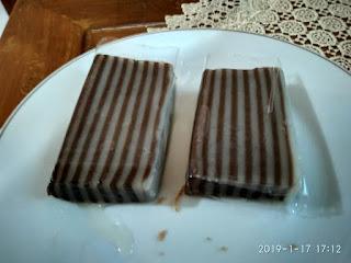 Kue Lapis Sagu Coklat Manis