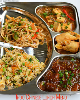 Indian lunch menu ideas raks kitchen lunch menu 61 indo chinese lunch platter 60 forumfinder Choice Image