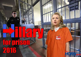 Hillary belongs in prison, cannot be trusted with top secret classified data, puts national security at risk.
