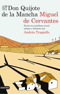 Portada de Don Quijote de la Mancha, de Miguel de Cervantes, versión de Andrés Trapiello