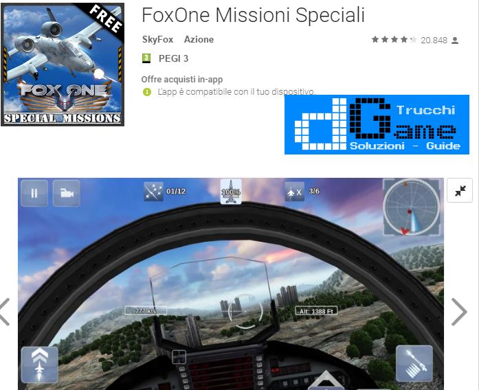 Trucchi FoxOne Missioni Speciali Mod Apk Android v1.5.24.8