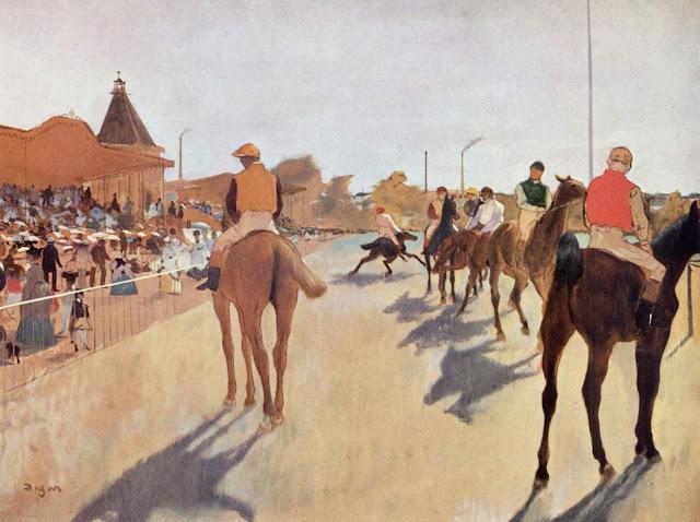 Edgar Degas - En las carreras ante las tribunas 1869-72