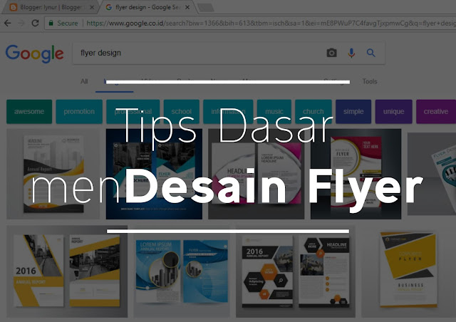 Tips Dasar Mendesain Flyer