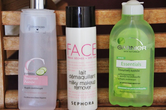 Summer face cleaning products