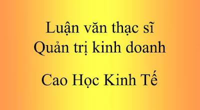 luan van cao hoc, luan van, luận văn, luận văn thạc sĩ, luan van thac si, luận văn thạc sĩ quản trị kinh doanh,
