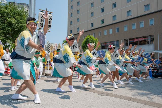 天狗連、熊本地震被災地救援募金チャリティ阿波踊り、男踊りの写真 3