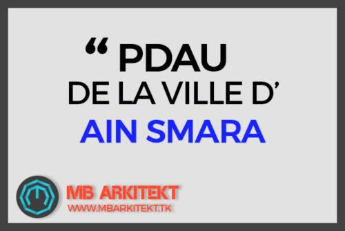 PDAU DE LA VILLE D'AIN SMARA
