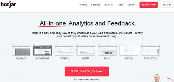 hotjar ferramenta de analytics otimização da conversão
