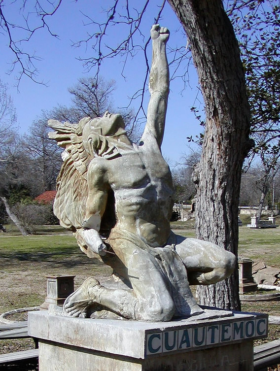 Cuautemoc statue
