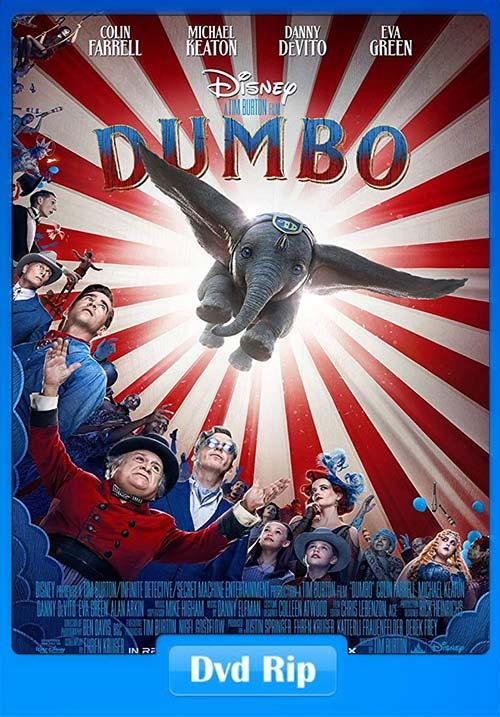 Dumbo 2019 720p DVDRip Hindi Tamil Telugu Eng x264 | 480p 300MB | 100MB HEVC Poster