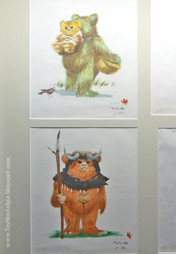 "Diseño de personajes de Joe Johnston de Ewoks  ""Episodio VI - The Return Of the Jedi""  (STAR WARS - The Exhibition)"