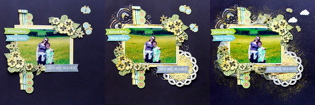 Smell the Flowers Scrapbook Page  by Katherine Sutton for BoBunny using Weekend Adventures