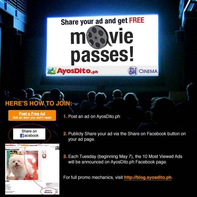 100 Free Movie Passes Up for Grabs Through AyosDito ph | Philippine