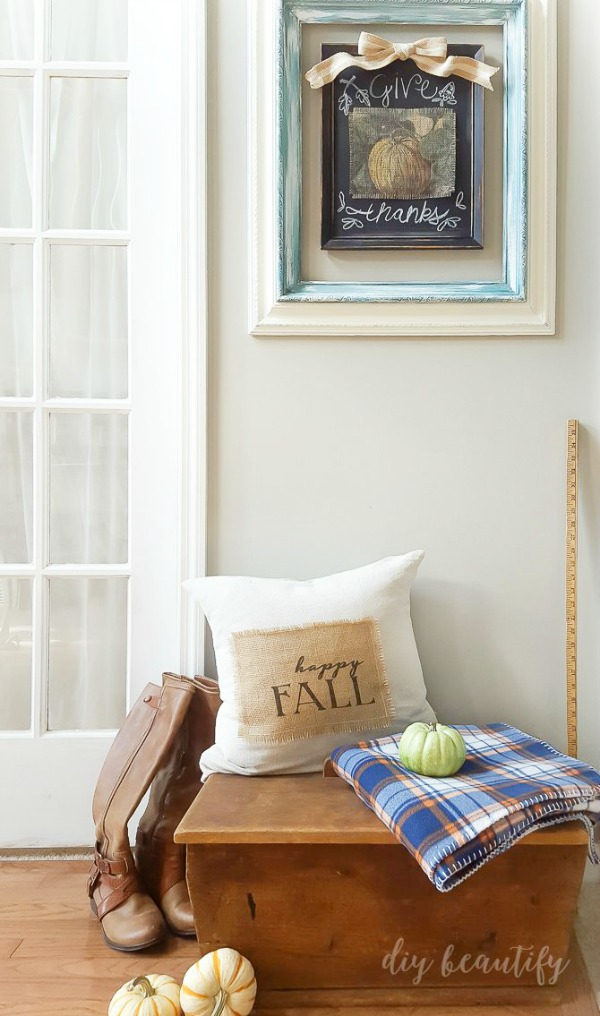 printed burlap projects