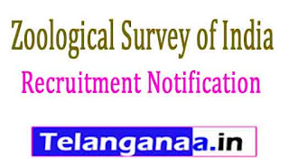 ZSI (Zoological Survey of India) Recruitment Notification 2017