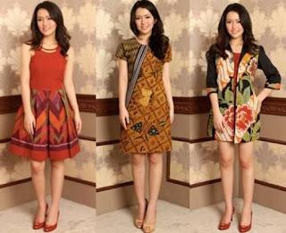 Batik Pesta Rok Pendek