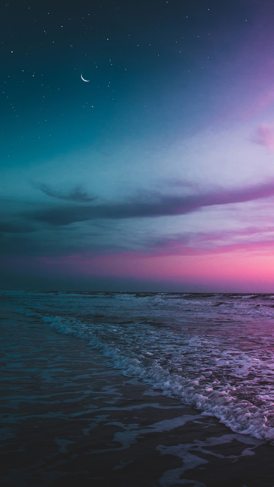 Beach night wallpaper