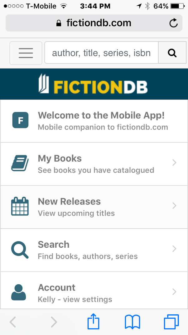 FictionDB App in the Apple Store