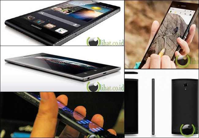 5 Smartphone yang paling Tipis di Dunia
