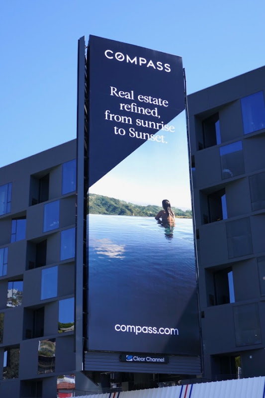 Compass real estate sunrise sunset billboard