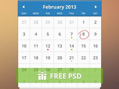 كليندر قوالب جاهزة للتحميل - Free Calendar Templates PSD - دروس4يو Dros4U