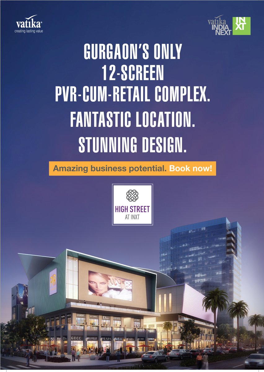 New Launch Commercial Project of Retail Shops at Vatika INXT High Street, Vatika India Next, Sector-83, Gurgaon
