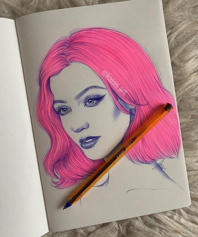 11-Kaia-Ballpoint-Pen-Color-Portraits-www-designstack-co