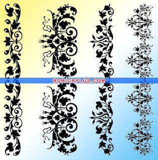 desain motif bordir pinggiran baju