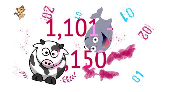 เขียนเลขภาษาอังกฤษ 1101- 1150(หนึ่งพันหนึ่งร้อยเอ็ด-หนึ่งพันหนึ่งร้อยห้าสิบ) | นับเลขภาษาอังกฤษ แปลเลข เลขอังกฤษเขียนไทย numbers เขียนไทย