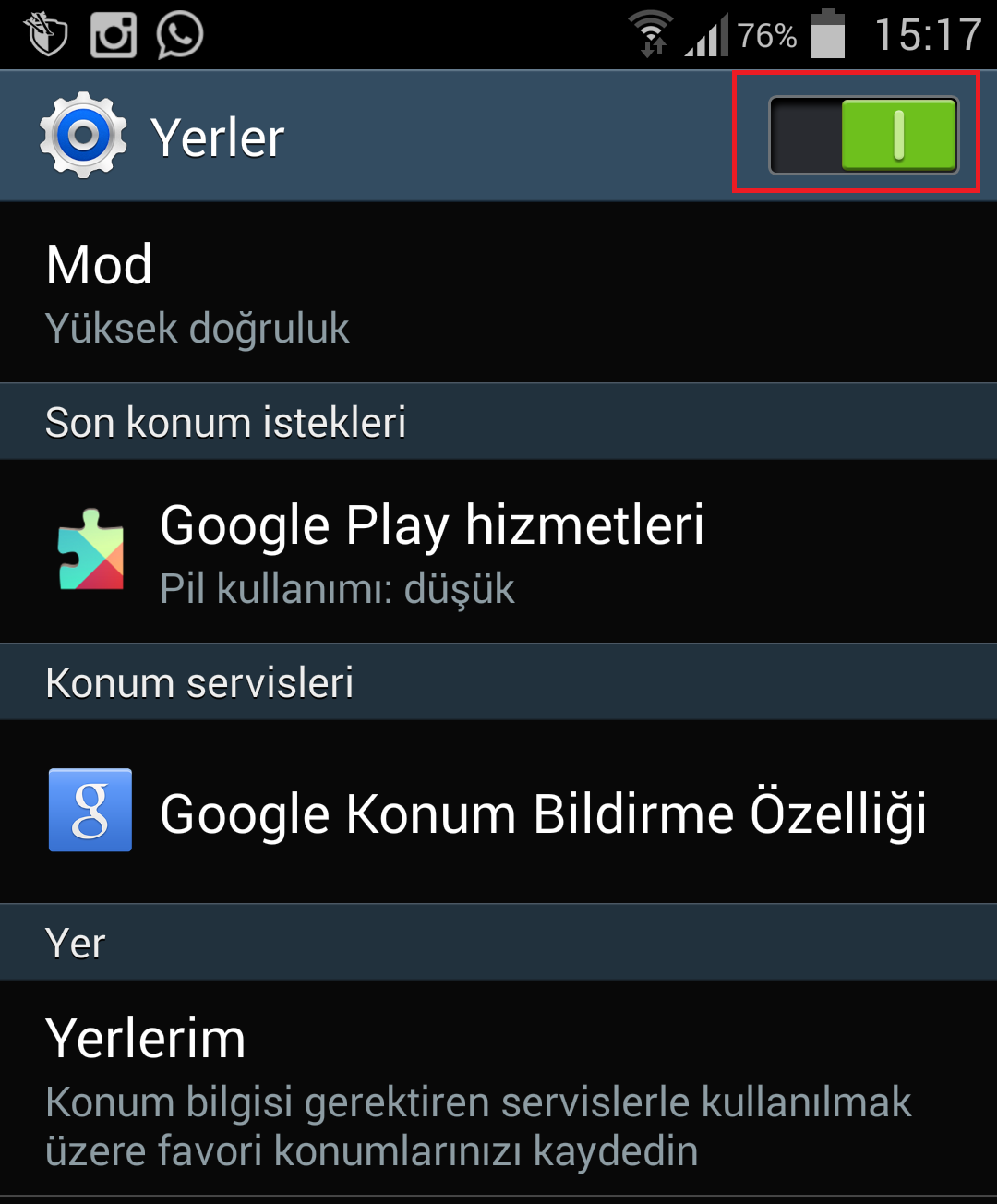 Android Cihaz Yöneticisi