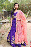 Actress Shraddha Srinath in Purple Chania Choli Cute Pics ~  Exclusive 56.jpg
