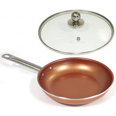 Satenes Cooper Pan para cocinar en horno, placa y fuego