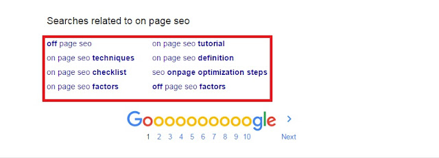 On-Page SEO Google Search
