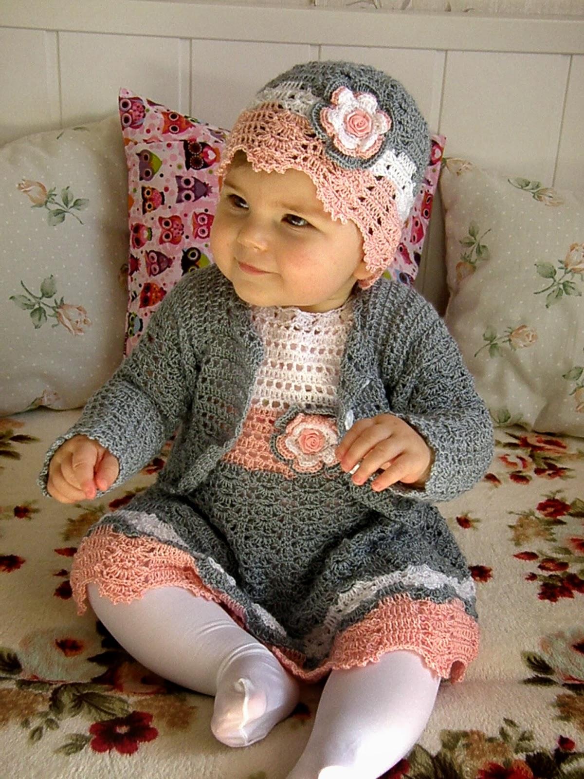 Bardzo dobra Szydełkowe i na drutach ubranka dla dzieci: Wiosenna szydełkowa HF62